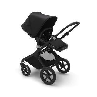Bugaboo Fox 2 Complete Full-Size All-Terrain Stroller.  The Most Advanced Comfort Stroller - Black/Black-Fresh White