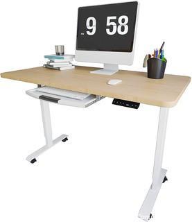 Electric Height Adjustable Standing Desk-Oak