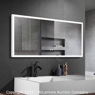 "DECORAPORT 60""x26"" Inch Illuminated Bathroom Mirror with Touch Button"