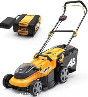 AS 40V 16'' Cordless Lawn Mower with 5Ah Battery and Charger . 3-in-1 Electric Lawn Mower
