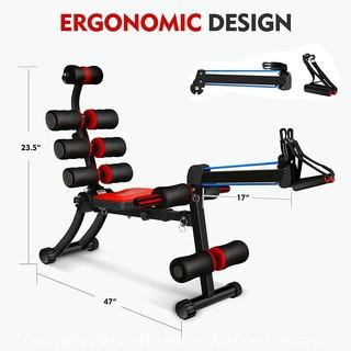 MBB 22 in 1 Wonder Master Core & Abdominal Workout Chair. Foldable & Adjustable Rowing Machine. 22 Ways to Exercise. Fitness Equipment for Home Gym Sports