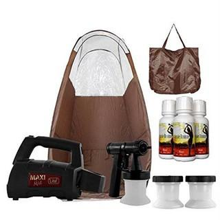 MaxiMist Lite Plus HVLP Sunless Spray Tanning KIT.  Tent Machine Airbrush Tan Maximist BRWN
