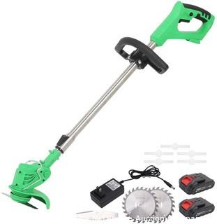 MAXMAN 47 Inch Electric Brush Cutter Grass Trimmer-Green