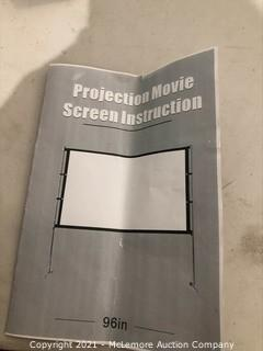 Projection Movie Screen 96in
