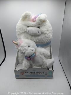 Little Miracles Animal Hugs Collection.  Unicorn 2-Piece Set- New