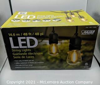 Feit Electric 48ft LED String Light - New Open Box