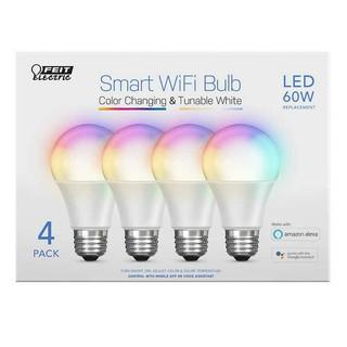 Feit Electric Wi-Fi Smart Bulbs.  4-pack - New