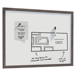 "Rustic Framed Magnetic Dry Erase Board 36� x 24"""