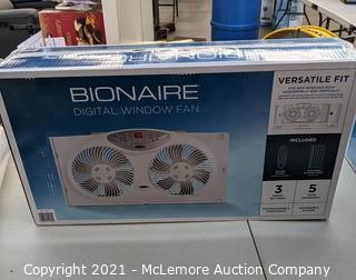Bionaire Window Fan With Remote Control.  White- New Open Box