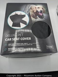 Think Design Deluxe Pet Car Seat Cover.  Black- New Open Box