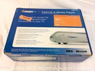 Microsoft msntv Internet And Media Player