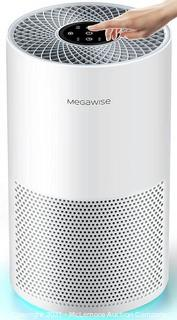 MegaWise Smart Air Purifier for Home Large Room up to 804ft�. H13 True HEPA Filter with Smart Air Quality Sensor. Sleep Mode. Quiet Air Cleaner for Pollen. Asthma. Pets. Odors. Smoke. Dust. Ozone Free