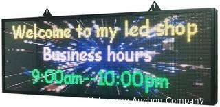 """P5 39""""x14""""Indoor Full Color LED Programmable Scrolling Display Message Board can Edit Text.Image. Video Display Electronic Rolling for Business.Shop.Window"""