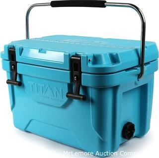 Arctic Zone Titan Deep Freeze Premium Ice Chest Roto Cooler with Microban Protection - Sizes 20Q