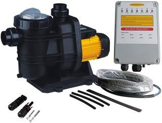 PWS Solar Powered Swimming Pool Pump. 72VDC. 1.6HP. 62ft. 136GPM. Solar Water Pump with MPPT Controller. Suitable for Salt Water. JP31-19/1200