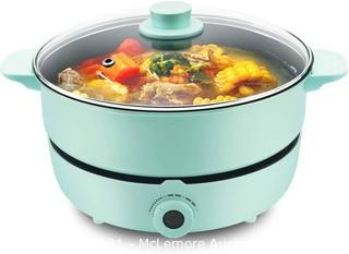 UNAOIWN Multifunction Hot Pot with Electric Burner Shabu Shabu Pot Split Cooker Non-Stick Skillet Chinese Hot Pot Frying Pan with Temperature Control Soup Cookware 5.3 Quart for 2-8 Person Family  Parts Verified