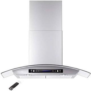 """HisoHu Wall Mount Range Hood.  30 Inch 780 CFM Stainless Steel Kitchen Chimney Vent.  4 Speed Gesture Sensing & Touch Control Switch Panel Exhaust Hood with Dimmable LED lights(A03-30"""") Parts Verified"""
