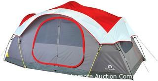 Outbound 8-Person Dome Tent for Camping with Carry Bag and Rainfly | Easy Up & Water Resistant | 3 Season | Red Parts Unverified