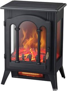 Kismile 3D Infrared Electric Fireplace Stove.  Freestanding Fireplace Heater With Realistic Flame Effects.  Portable Indoor Space Heater With Overheating Safety System.  Adjustable Brightness (16.3 inch)