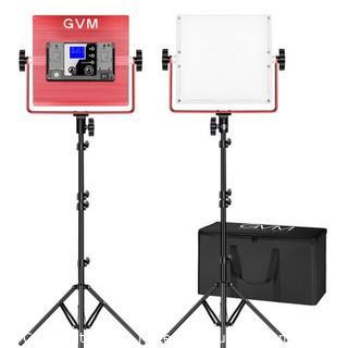 GVM RGB LED Soft Video Light Panel Kit R50R288-2L