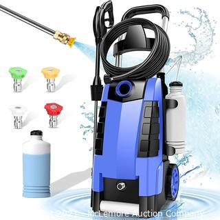TEANDE 3800PSI Electric Pressure Washer.  3800PSI High Pressure Washer for Cars Fences Patios Garden Cleaning.  2.8GPM 1800W Power Washer