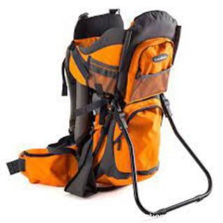 Luvdbaby Premium Baby Backpack Carrier for Hiking with Kids-Orange/Grey