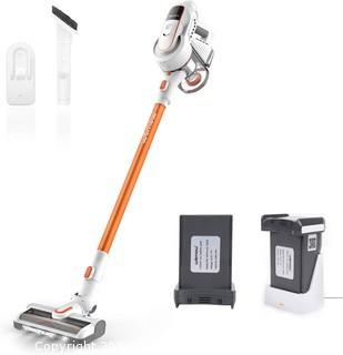 Womow Cordless Vacuum Cleaner.  2 Detachable Batteries 16. 000pa Strong Suction 2-in-1 Stick Handheld Vacuum Cleaner for Hard Floor