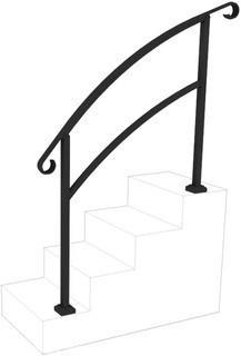 InstantRail 4-Step Adjustable Handrail (Black)