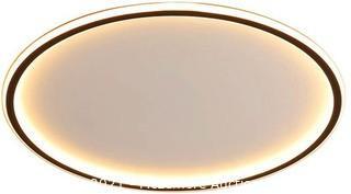 "NIUYAO Ceiling Light Aluminum Acrylic Disc Shade LED Lamp Black Modern Nordic Style Flush Mount Lighting Fixture Contemporary Indoor Decoration -23.5"" White"