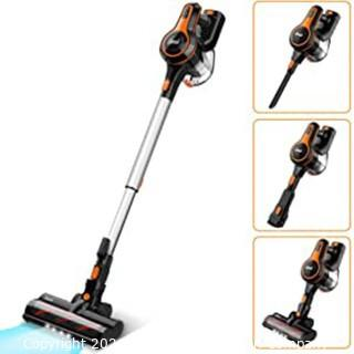 INSE Cordless Vacuum Cleaner 23000Pa Powerful Suction with 250W Digital Motor.  Handheld Stick Vacume Lightweight Quiet Rechargeable 2500mAh for Hardwood Floor Carpet Pet Hair Car - S600