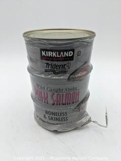 Kirkland Signature Trident Seafoods Wild Caught Alaska Pink Salmon - 3 Cans