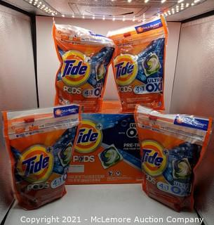 Tide Pods HE Laundry Detergent Pods, Spring Meadow, 42-count, 4-pack- NEW