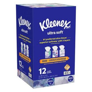 Kleenex Ultra Soft Facial Tissue, 3-Ply, 85-count, 11-pack - New Damaged Box/Missing One