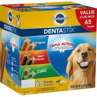 Pedigree Dentastix Large Dog Treats, Variety Pack, 65 ct- New Open Box