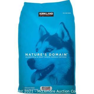 Kirkland Signature Nature's Domain Salmon Meal & Sweet Potato Dog Food 35 lb.- New