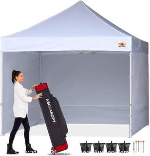 ABCCANOPY Ez Pop Up Canopy Tent with Sidewalls 10x10 KingKong Package.  White MSRP $239.95 New in box