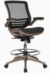 Flash Furniture Black Contemporary Adjustable Height Swivel Drafting Chair - New in Box - MSRP $292