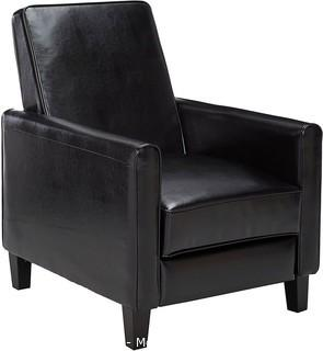 Christopher Knight Home Davis Leather Recliner Club Chair.  Black - NEW IN BOX - MSRP $299.98