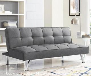 Corey Charcoal Convertible Sofa By Serta - New in Box - MSRP $199.98