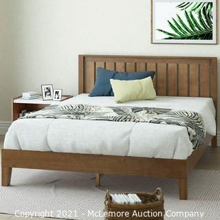 ZINUS Alexis Deluxe Wood Platform Bed Frame with Headboard / Wood Slat Support / No Box Spring Needed / Easy Assembly.  Rustic Pine.  Full