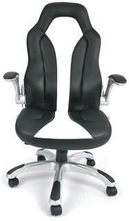 saneki Ergonomic PU Leather High Back Office Chair. Desk Chair Swivel Executive Computer Chair Headrest 8017 (Black)