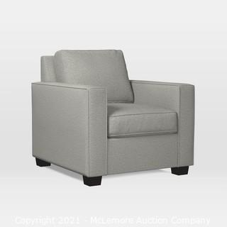 West Elm Henry Armchair.  Twill.  Stone - MSRP $749