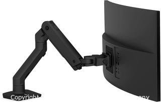 Ergotron HX Ultrawide Monitor Arm Desk Mount - for Screens 20 to 42 lbs - Matte Black