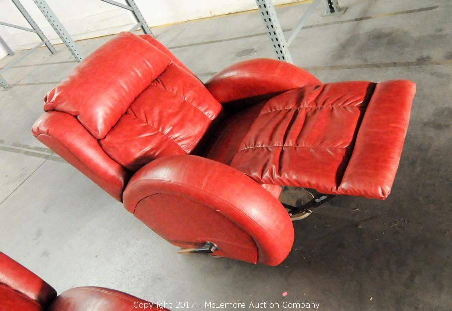 ... 2 Leather Rocker Swivel Recliners From DT McCallu0027s ...
