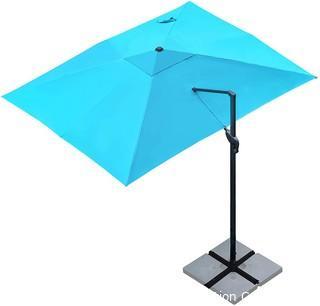 Cantilever Patio Umbrella Rectangular Deluxe Offset Umbrella 360�Rotation & Integrated Tilting System Patio Hanging Umbrella