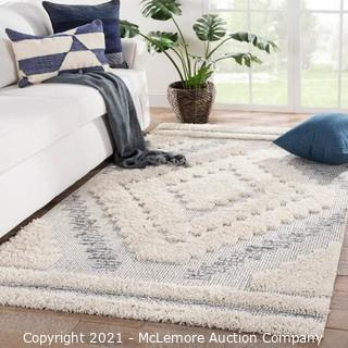 """Aipur Living Sani Indoor/ Outdoor Geometric Gray/ Cream Area Rug (7'10""""X10'10"""") - Brand New $421 - See link"""