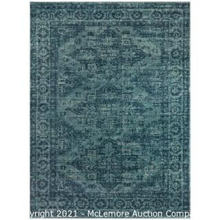 """Finulf Oriental Teal Area Rug -Rectangle 7'10"""" x 10' - Teal - Brand New - $178 - See Link"""