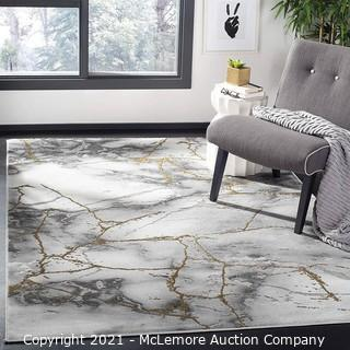 Safavieh Craft Collection CFT877F Modern Abstract Non-Shedding Living Room Bedroom Accent Area Rug.  4' x 6'.  Grey / Gold - Brand New