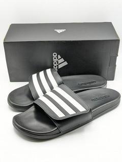 New in Box - Adidas Unisex Adilette Adjustable Slides Sandals 7M/8W - Black