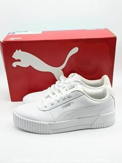 New in Box - Puma Women's Carina Low Top Lace Up Shoes Sneakers White - Size 7.5